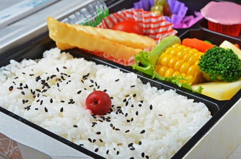 Scatola di pranzo giapponese fotografia stock libera da diritti