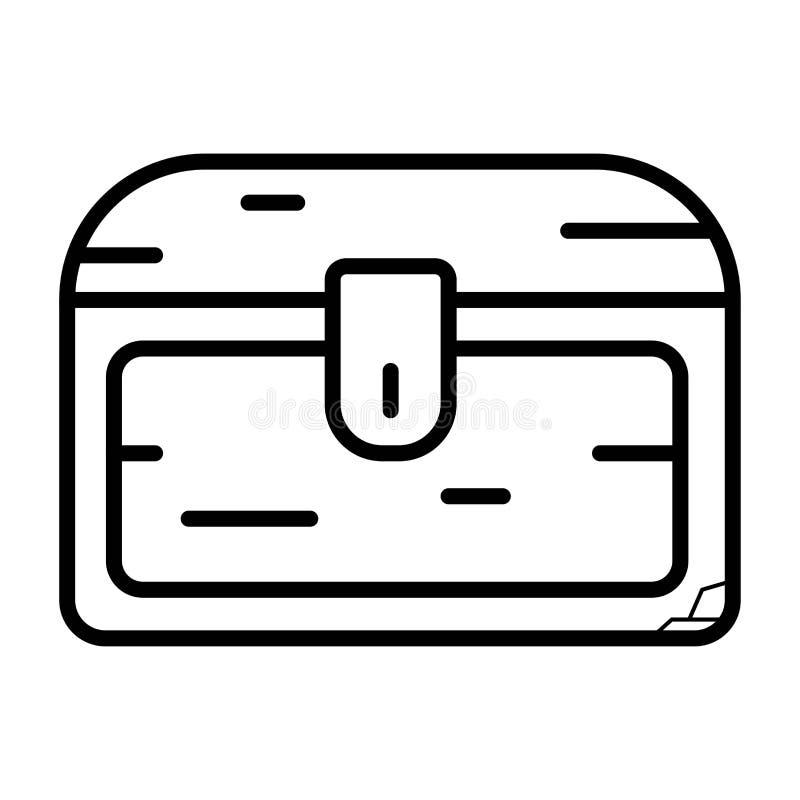 Scatola di stoccaggio del forziere illustrazione di stock