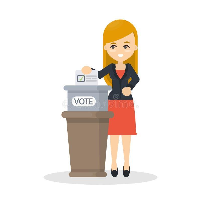 Scatola di voto illustrazione vettoriale
