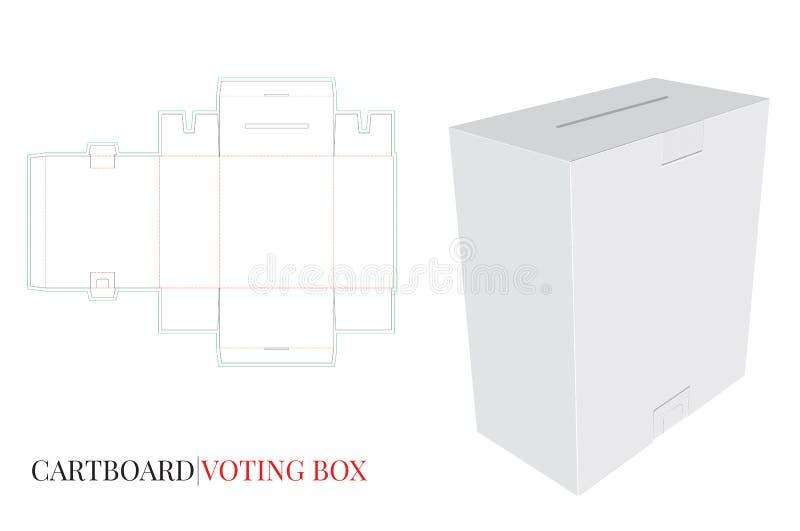 Scatola di voto, scatola di massaggio, illustrazione della cassetta delle lettere illustrazione di stock