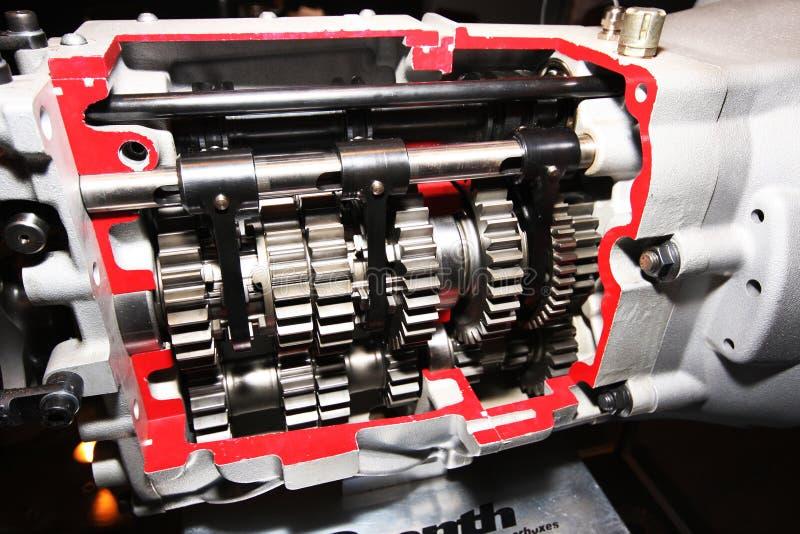 Scatola ingranaggi ad alta velocità dell'automobile sportiva. fotografie stock