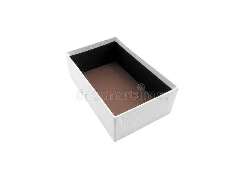 Scatola isolata su fondo bianco fotografia stock libera da diritti