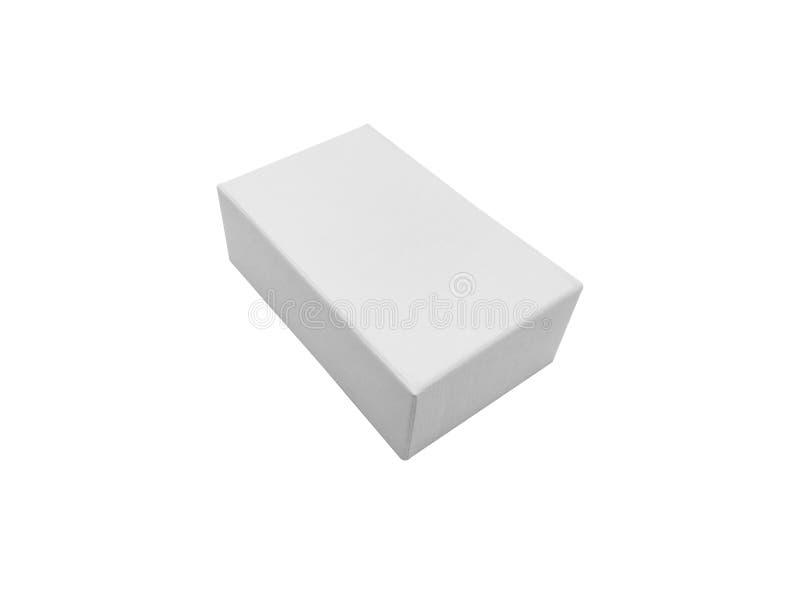 Scatola isolata su fondo bianco immagine stock