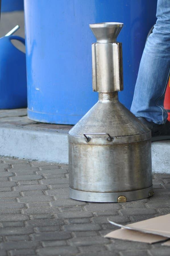 Scatola metallica del combustibile immagini stock