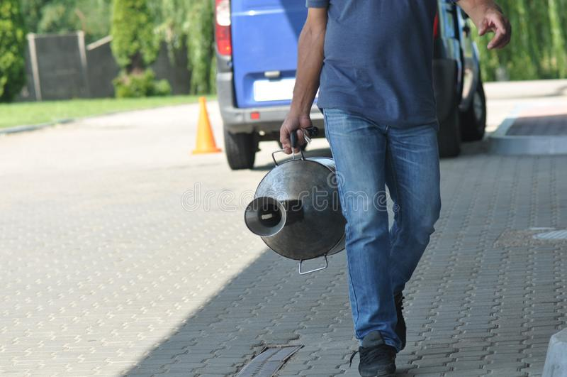 Scatola metallica del combustibile fotografie stock libere da diritti