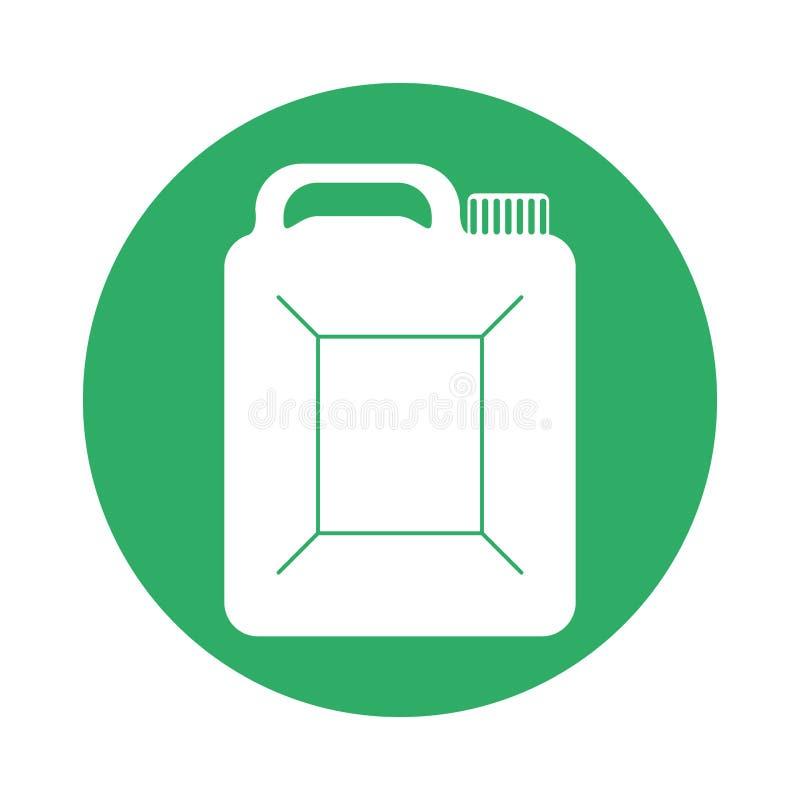 Scatola metallica del segnale dell'immagine dell'icona della benzina illustrazione di stock