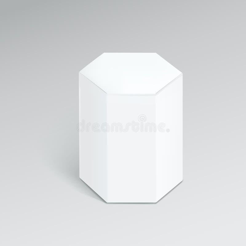 Scatola moderna esagonale illustrazione vettoriale