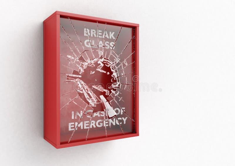 Scatola rossa della rottura in caso d'emergenza royalty illustrazione gratis