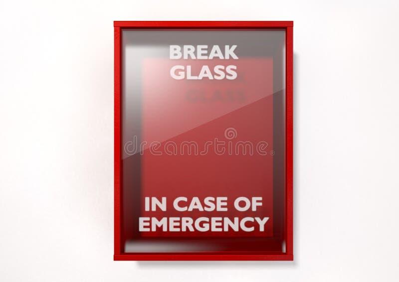 Scatola rossa della rottura in caso d'emergenza illustrazione vettoriale