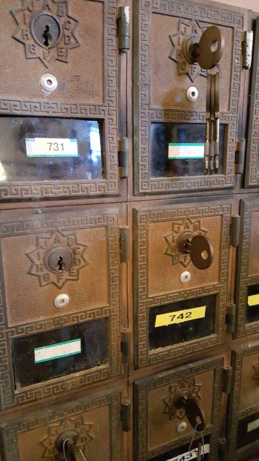 Scatole antiche della posta fotografie stock