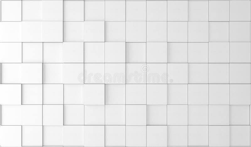 Scatole bianche normali astratte illustrazione di stock