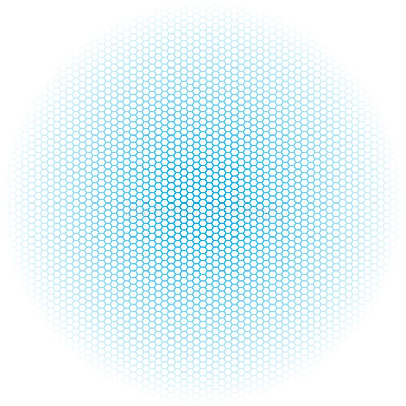 Scatole confinate blu di esagono su fondo bianco illustrazione di stock