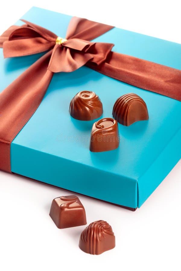 Scatole di regalo di cioccolato fotografia stock libera da diritti