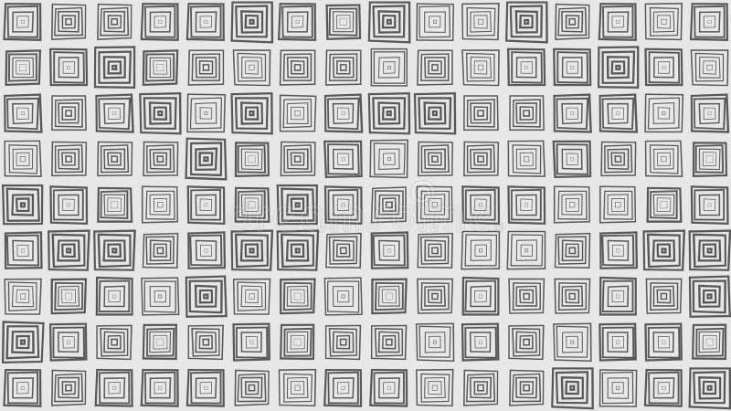 Scatole quadrate differenti, fondo astratto dell'illustrazione illustrazione di stock
