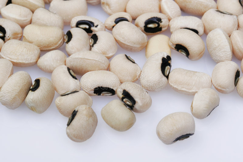 Scattered Black-Eyed Peas. Black eyed peas for a nutritious concept stock images