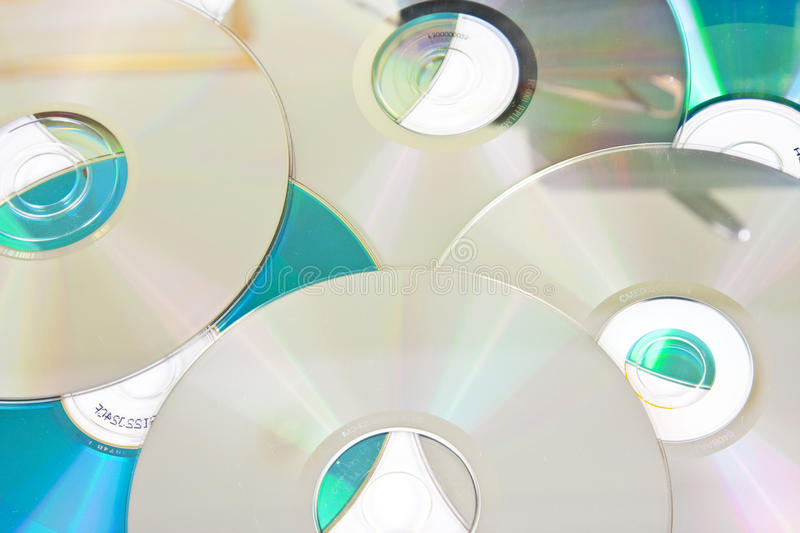 Scattered CD background royalty free stock image
