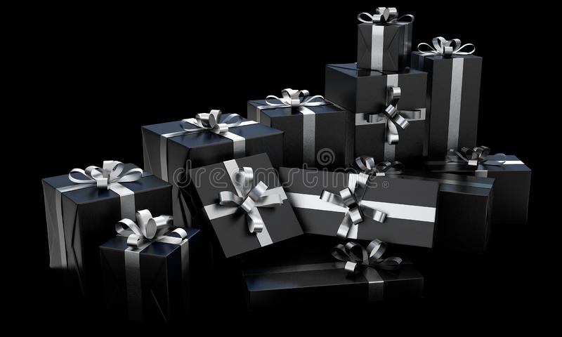 Scattered Gift Box Pile stock images
