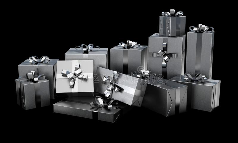 Christmas Gift Wrapped Boxes royalty free stock image