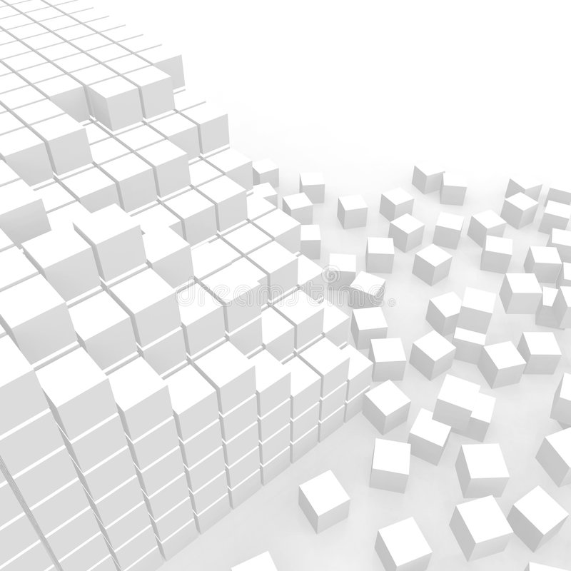 Scattered cubes royalty free illustration