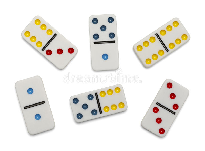 Scattered Dominoes stock photography