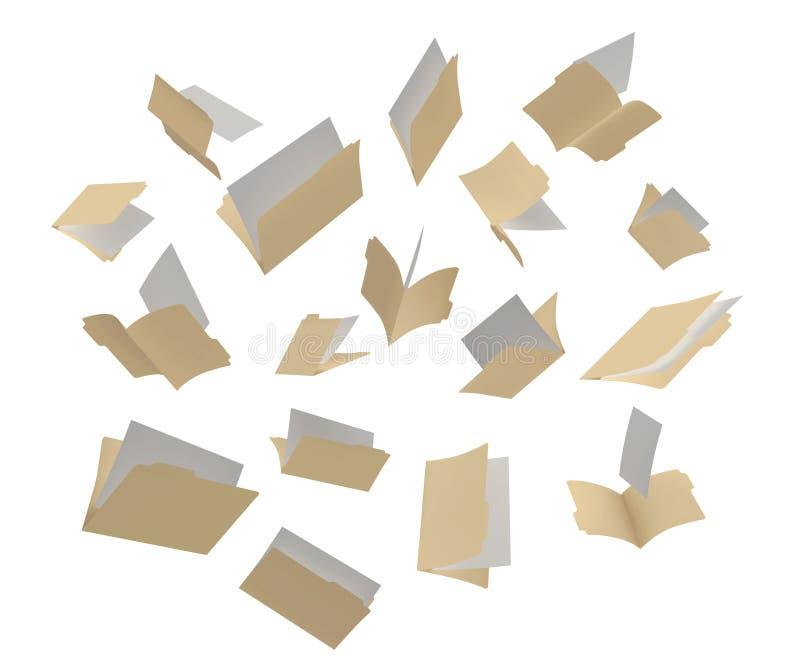 Scattered Folders vector illustration