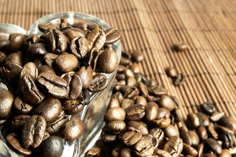 Scattered fresh coffee beans stock photo image of coffee for Table th visible