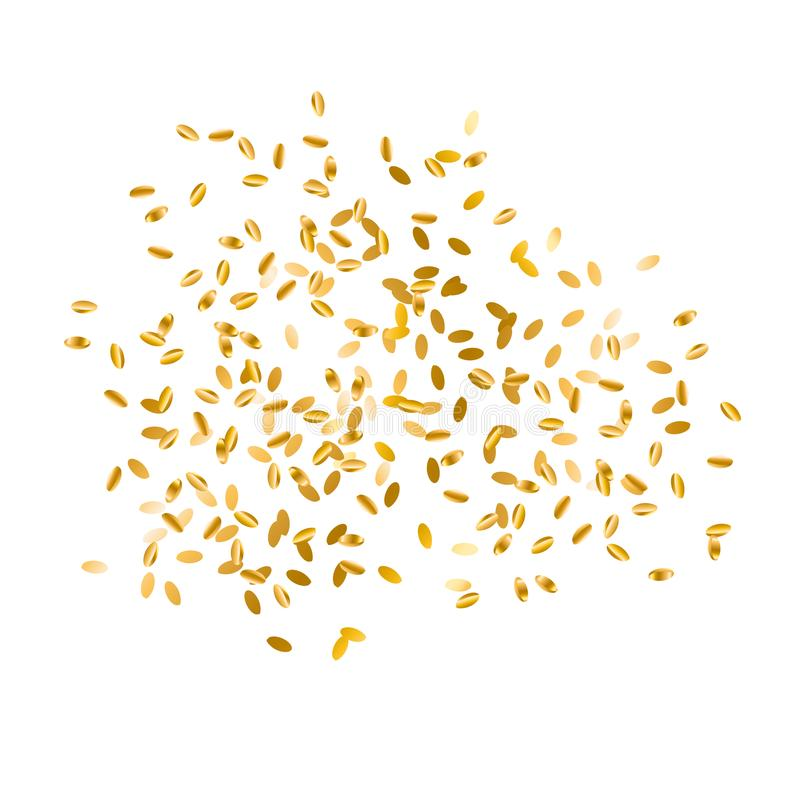 Free Scattered Gold Wheat Seed Design Element. Stock Image - 108213571