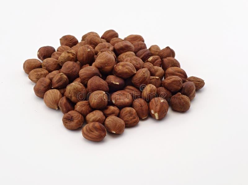 Scattered hazelnuts stock photos