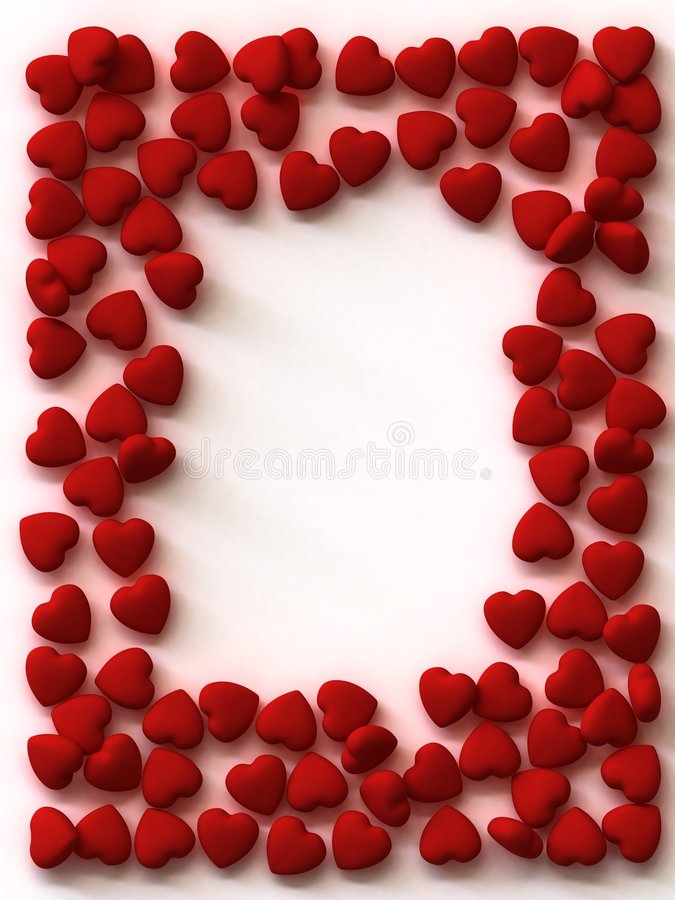 Free Scattered Hearts Border Royalty Free Stock Photo - 7883675