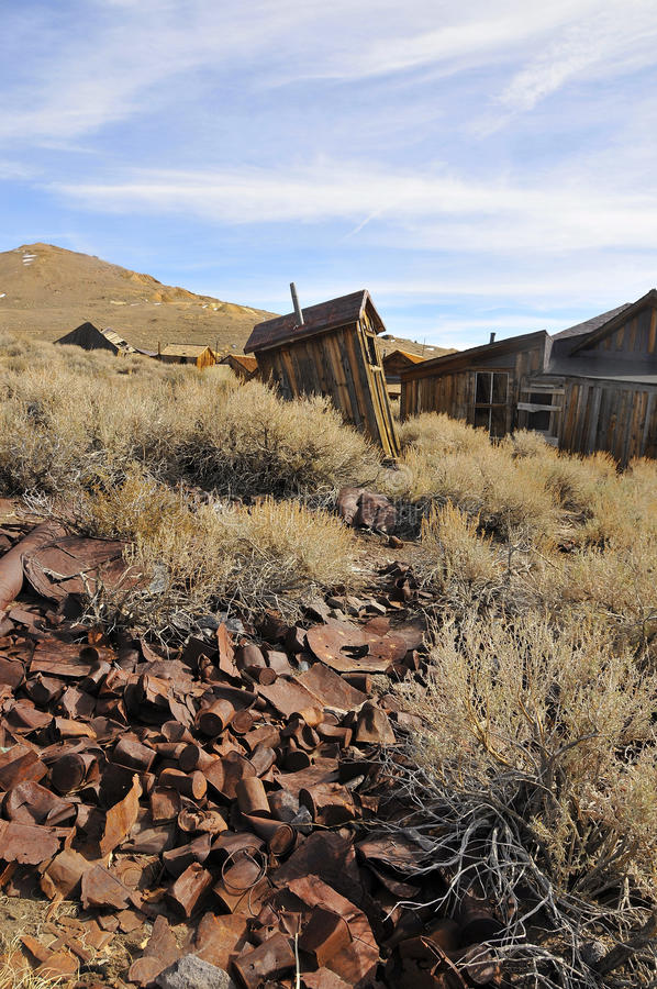 Scattered Old Cans In Ghost Town Stock Images