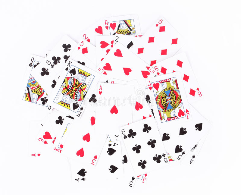 Scattered Playing Cards Background Royalty Free Stock Images