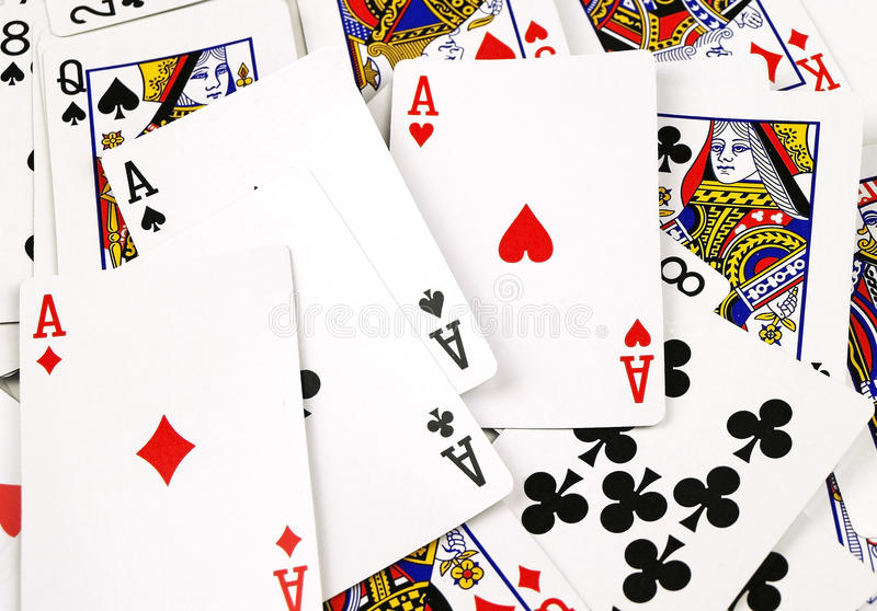 Download Scattered Cards Background stock image. Image of entertainment - 29875785