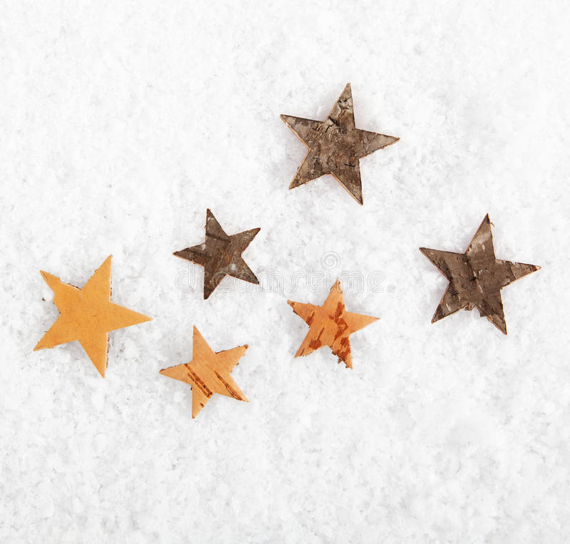 Download Scattered Stars On Winter Snow Stock Photo - Image: 27055542