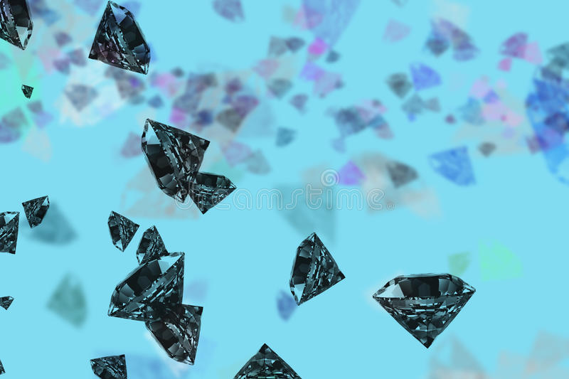 Scattering of black diamonds. royalty free stock images