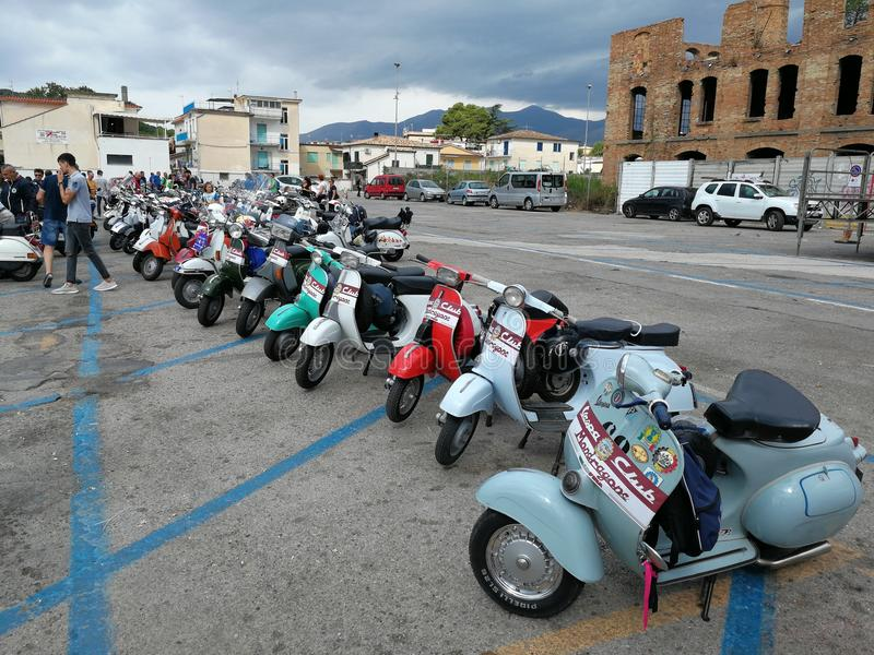 Scauri - Vespa Rally stock photo