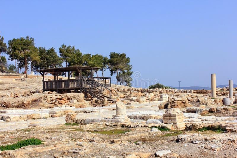 Scavi archeologici, parco nazionale Zippori, Galilea, Israele fotografia stock libera da diritti