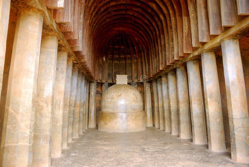 Scavi il tempiale, Bhaja, la maharashtra, India fotografia stock libera da diritti
