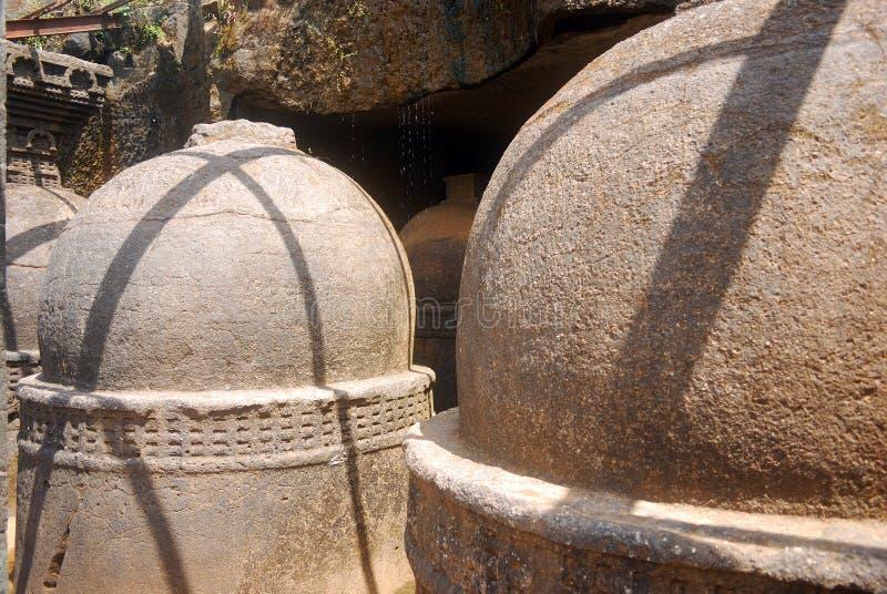 Scavi il tempiale, Bhaja, la maharashtra, India immagini stock libere da diritti