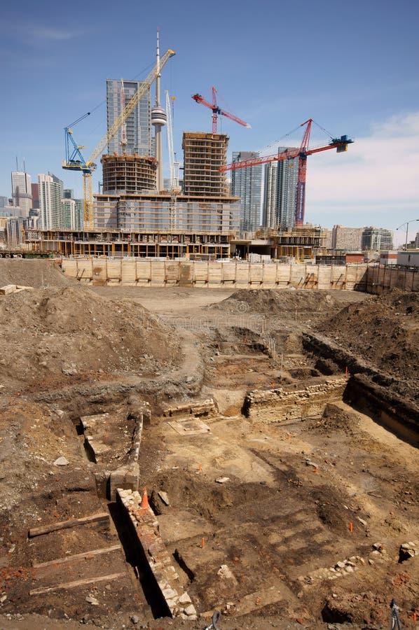 Scavo storico di Toronto immagine stock