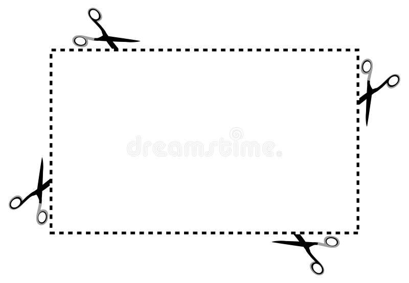 Sccisors Kupon vektor abbildung