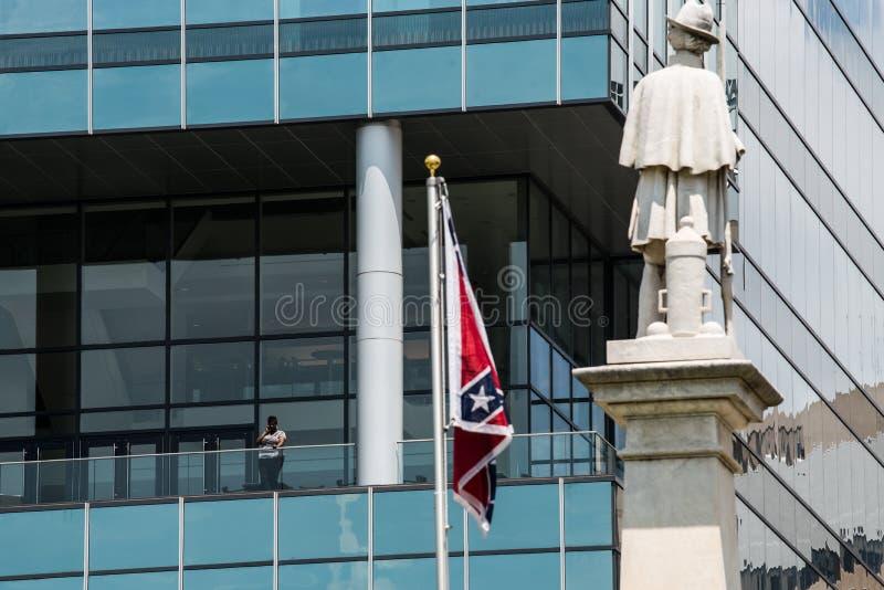 SCConfederateFlagRally royaltyfri bild