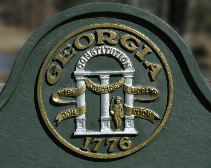Sceau d'état de la Géorgie photo libre de droits