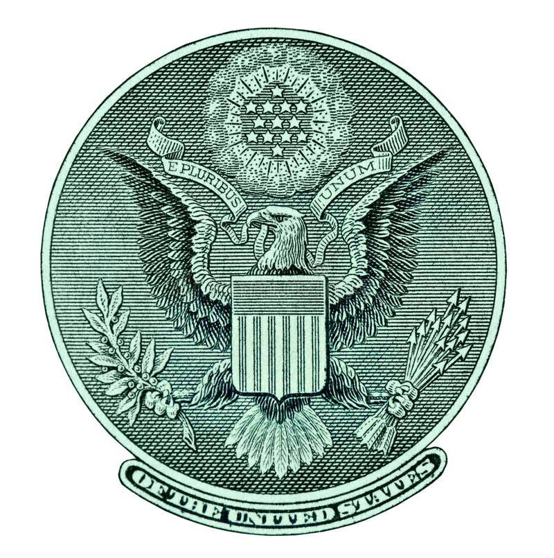 Sceau d'aigle de billet d'un dollar illustration libre de droits