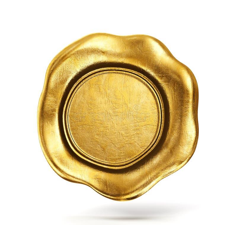 Sceau d'or de cire illustration libre de droits