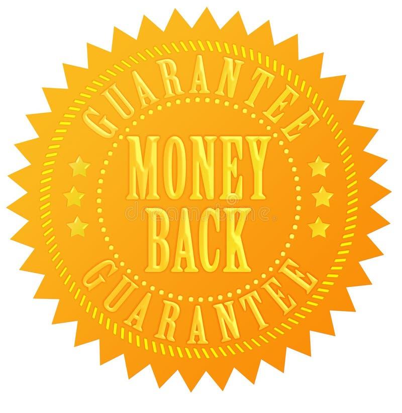 Sceau de garantie de dos d'argent illustration libre de droits