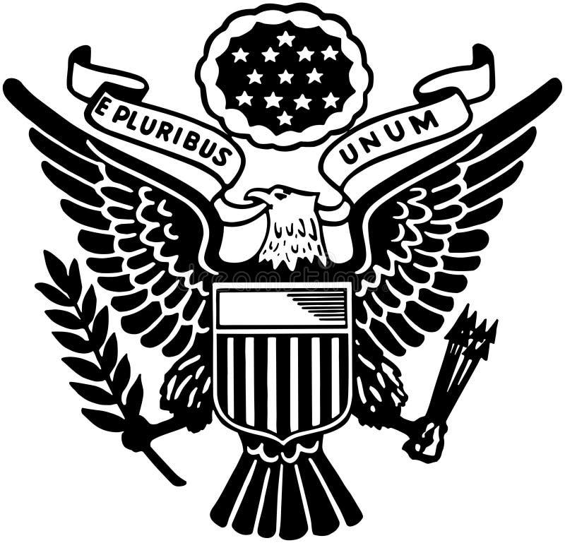 Sceau des Etats-Unis illustration de vecteur