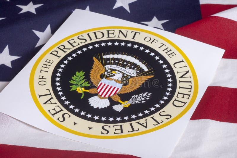 Sceau du Président des États-Unis photo stock