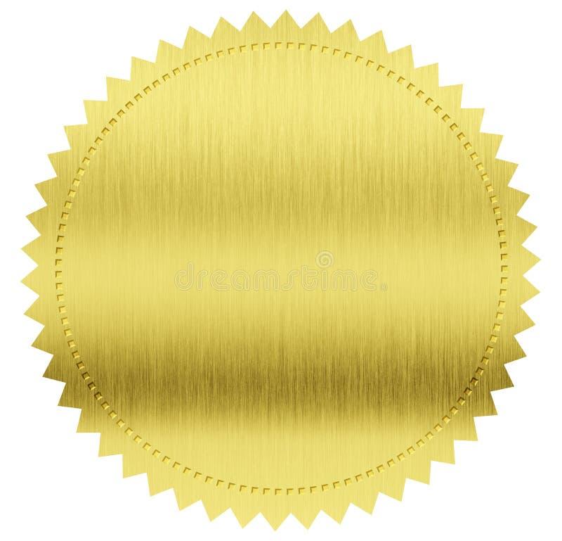 Sceau ou médaille d'or photographie stock