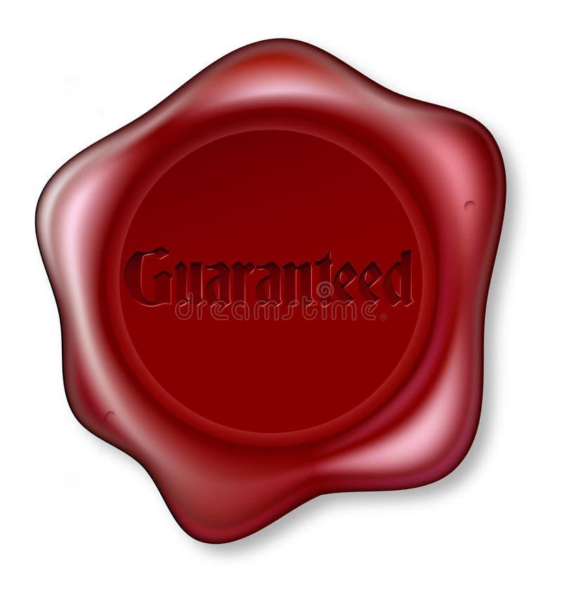 Sceau rouge garanti de cire illustration de vecteur
