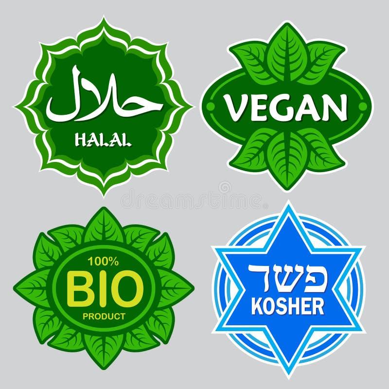 Sceaux certifiés par nourriture illustration libre de droits
